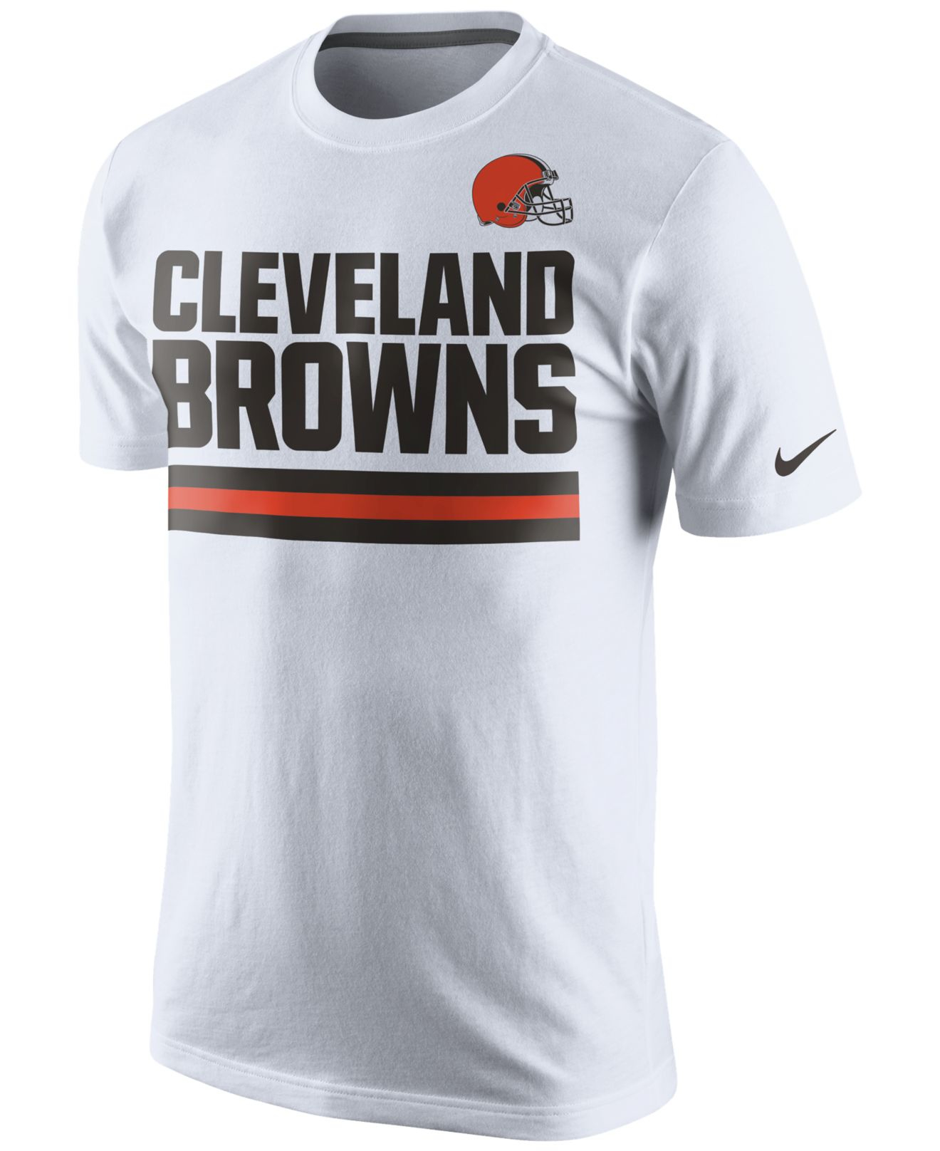 7aa60ccc022 Nike Men's Cleveland Browns Team Stripe T-shirt in White for Men - Lyst