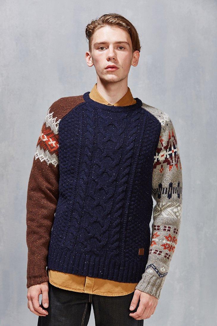 Deus ex machina Contrast Fair Isle Sweater in Blue for Men | Lyst