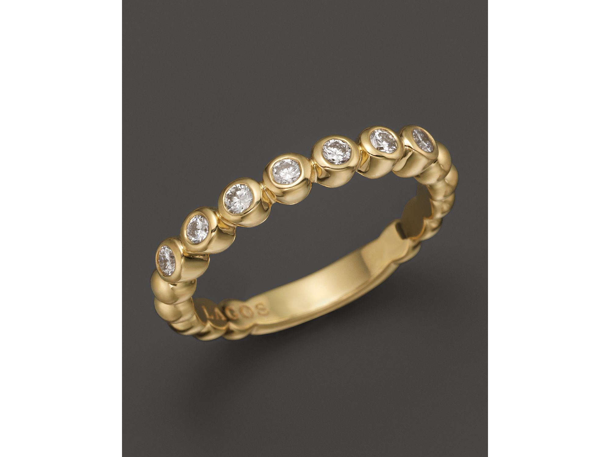 lagos 18k gold beaded and ring in metallic lyst