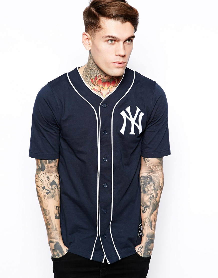 Majestic Ny Yankees Jersey Baseball Top in Blue for Men | Lyst
