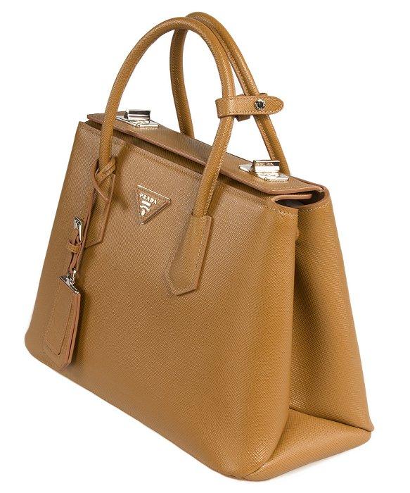 Prada briefcase cocoa brown