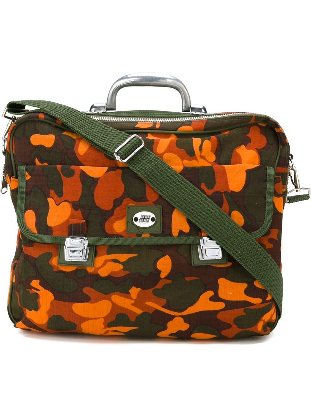 Lyst - Jean Paul Gaultier Camouflage Shoulder Bag in Green for Men a9c7735ec3