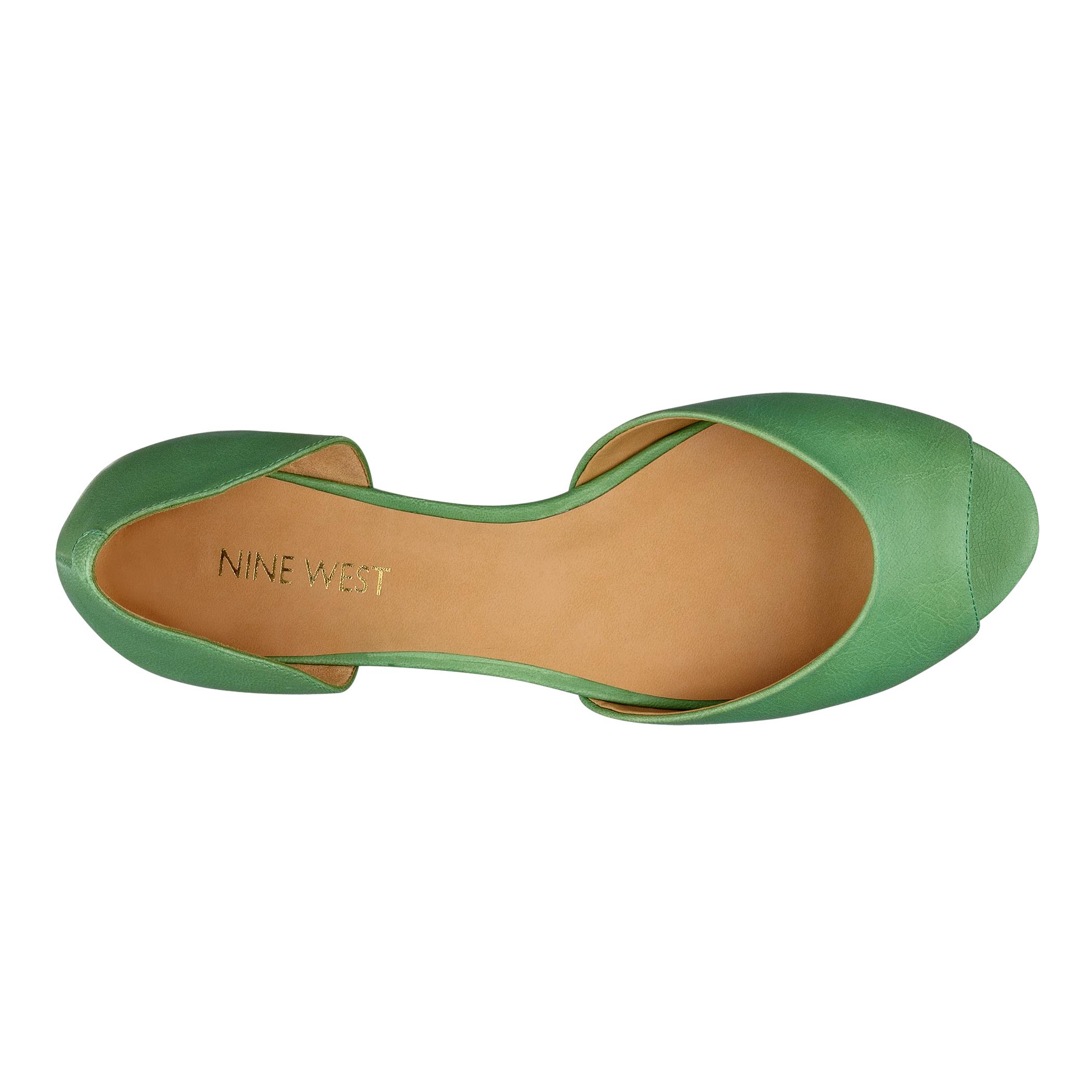 Nine West Peep Toe Flat Shoes