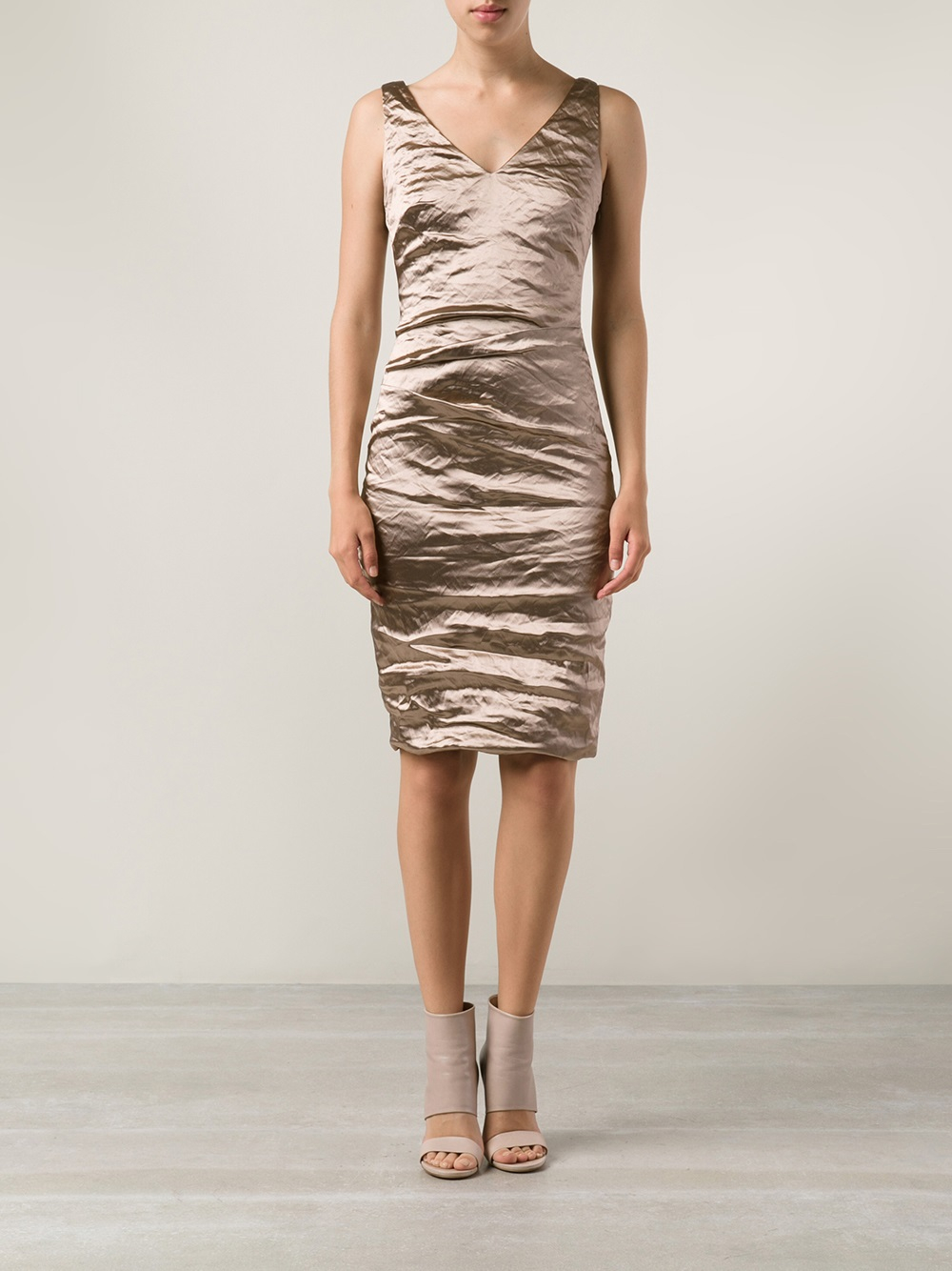 Lyst Nicole Miller Cocktail Dress In Metallic