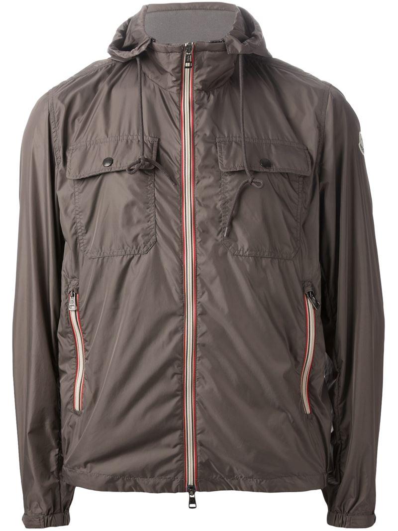 Moncler 'Lyon' Windbreaker Jacket in Grey (Grey) for Men