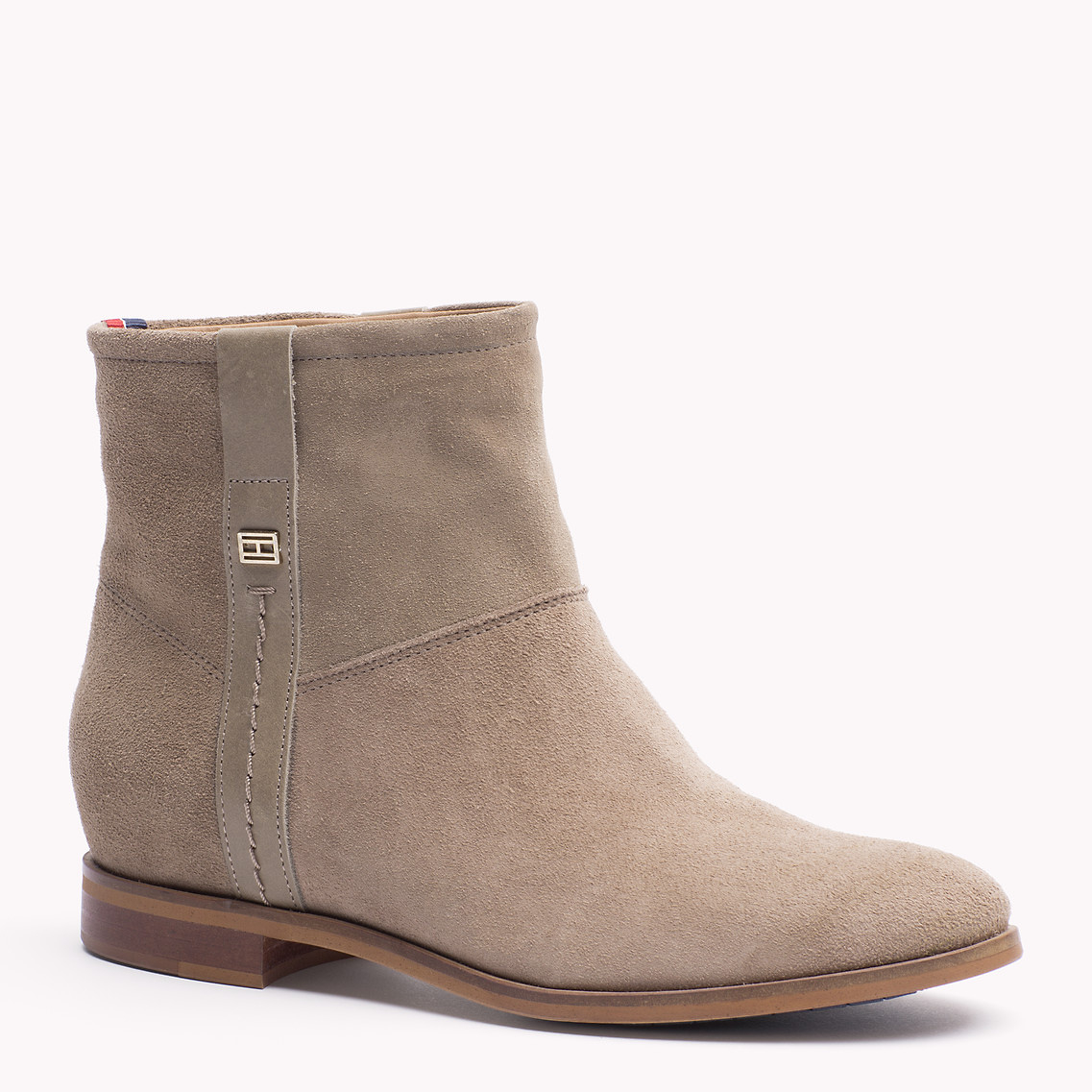 tommy hilfiger charlie ankle boots in beige timberwolf. Black Bedroom Furniture Sets. Home Design Ideas