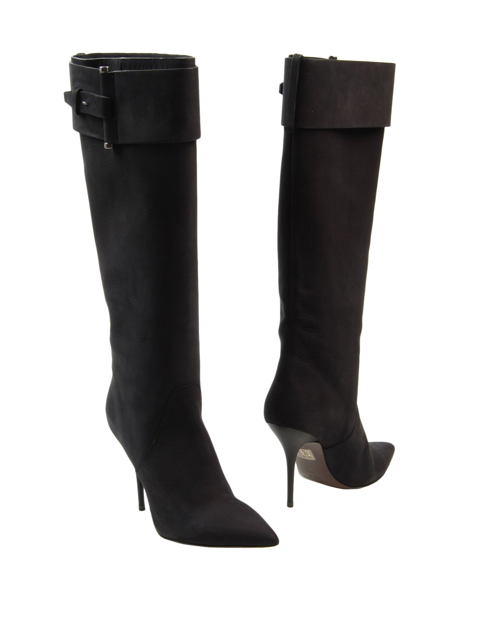 calvin klein high heeled boots in black save 49 lyst