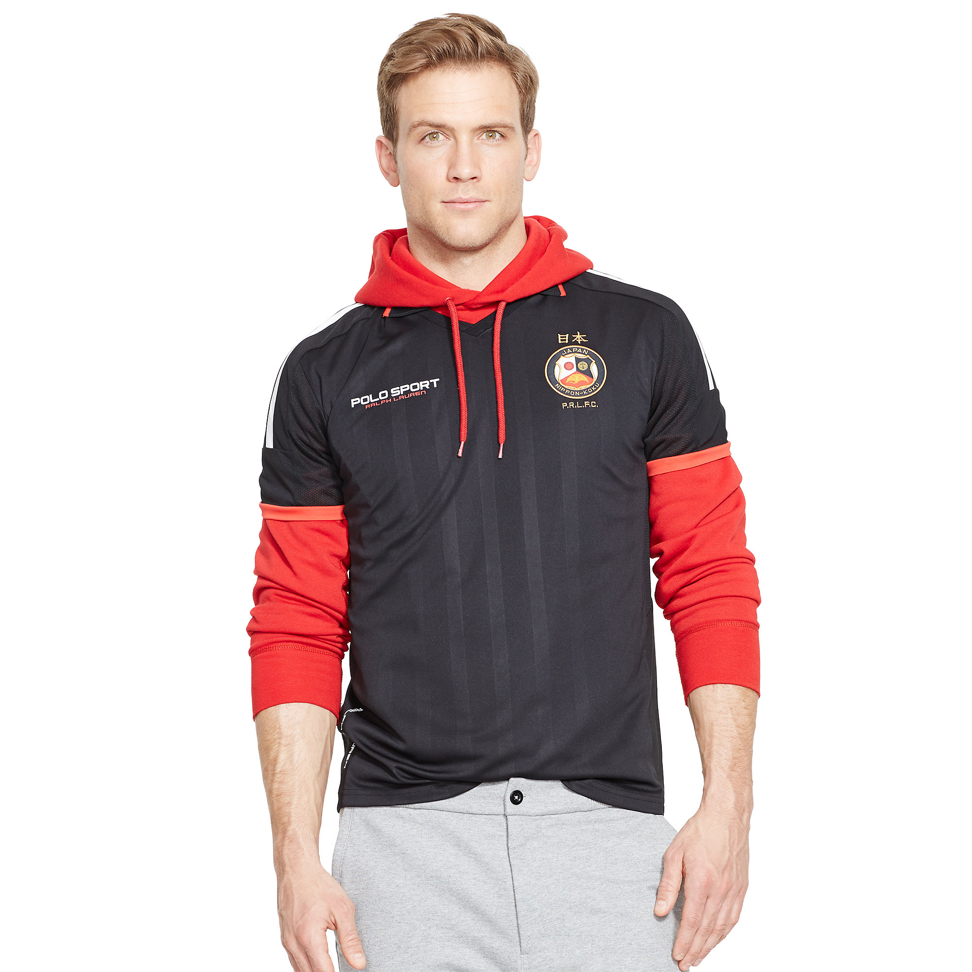 Ralph lauren japan jersey polo shirt in black for men lyst for Ralph lauren polo jersey shirt