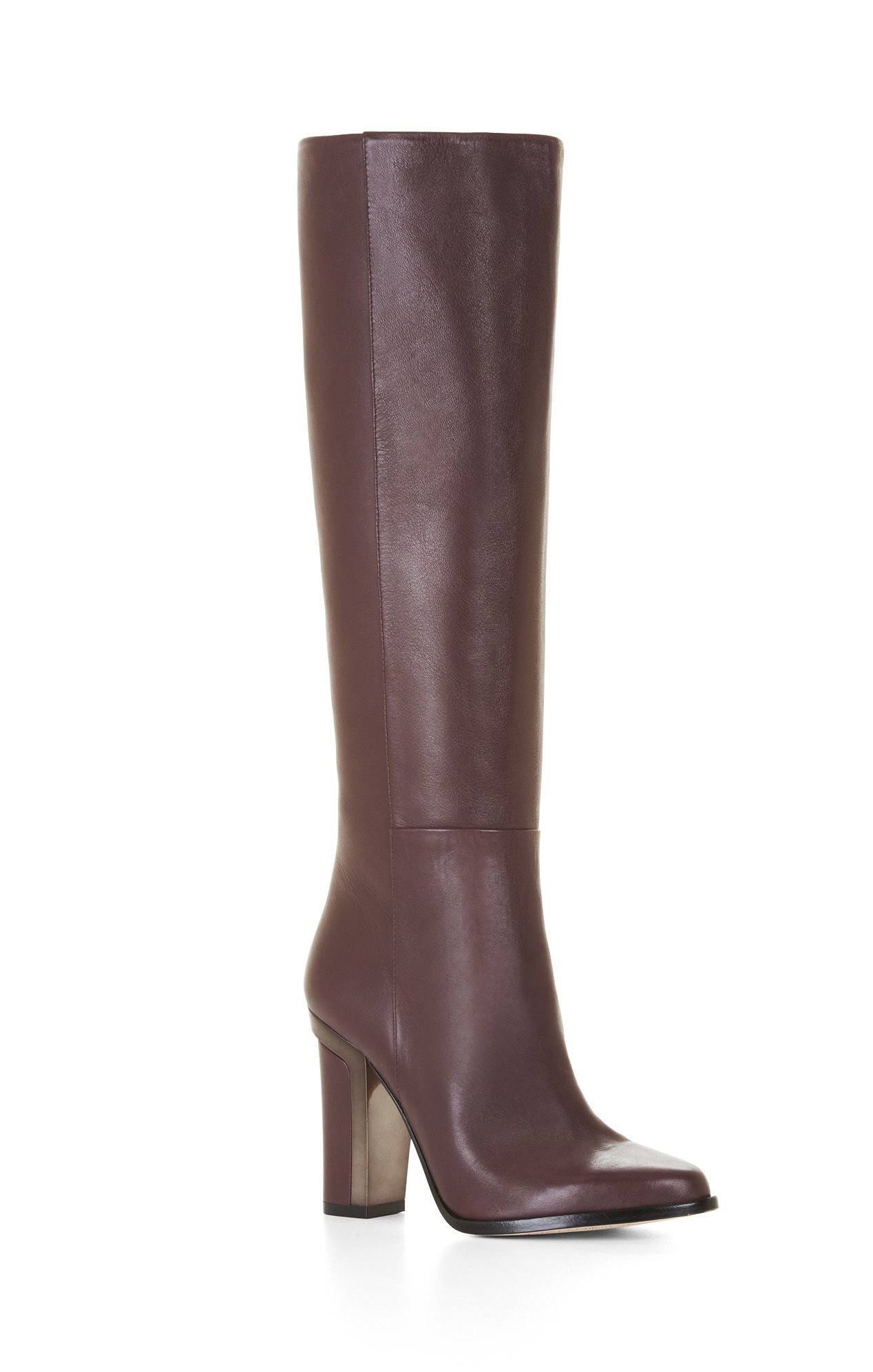 8c2ca8a78fc6 BCBGMAXAZRIA Oak High-heel Leather Knee Boots in Purple - Lyst