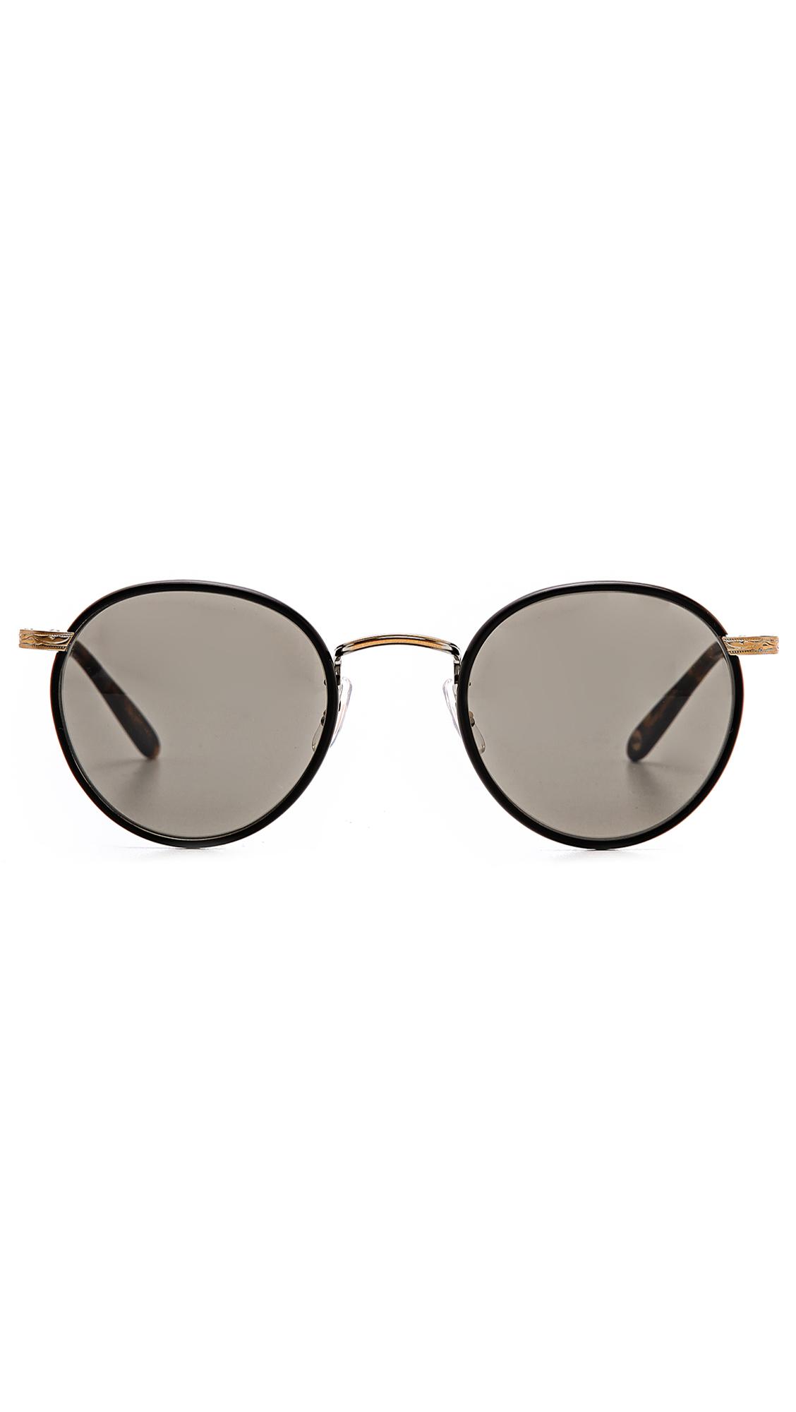 Garrett Leight Wilson Sunglasses in Black