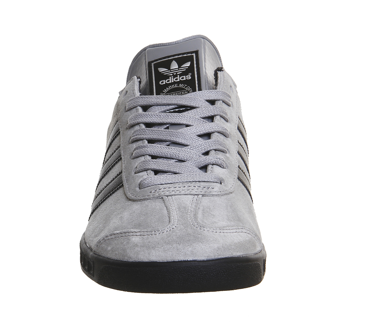 adidas Originals Hamburg Suede and Leather Low-Top Sneakers in Grey (Grey) for Men