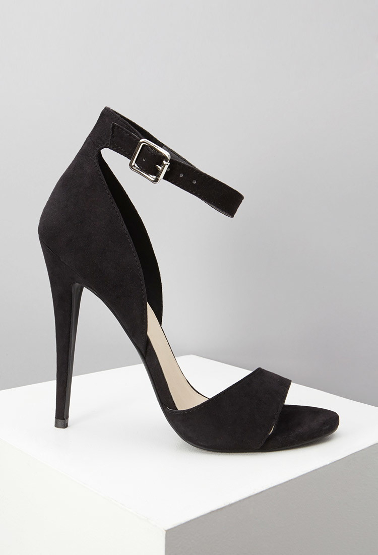 3f403751620 Forever 21 Black Faux Suede Ankle Strap Sandals You've Been Added To The  Waitlist
