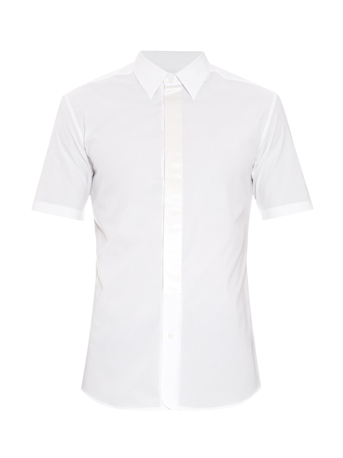 Marc Jacobs Silk Placket Short Sleeved Cotton Shirt In