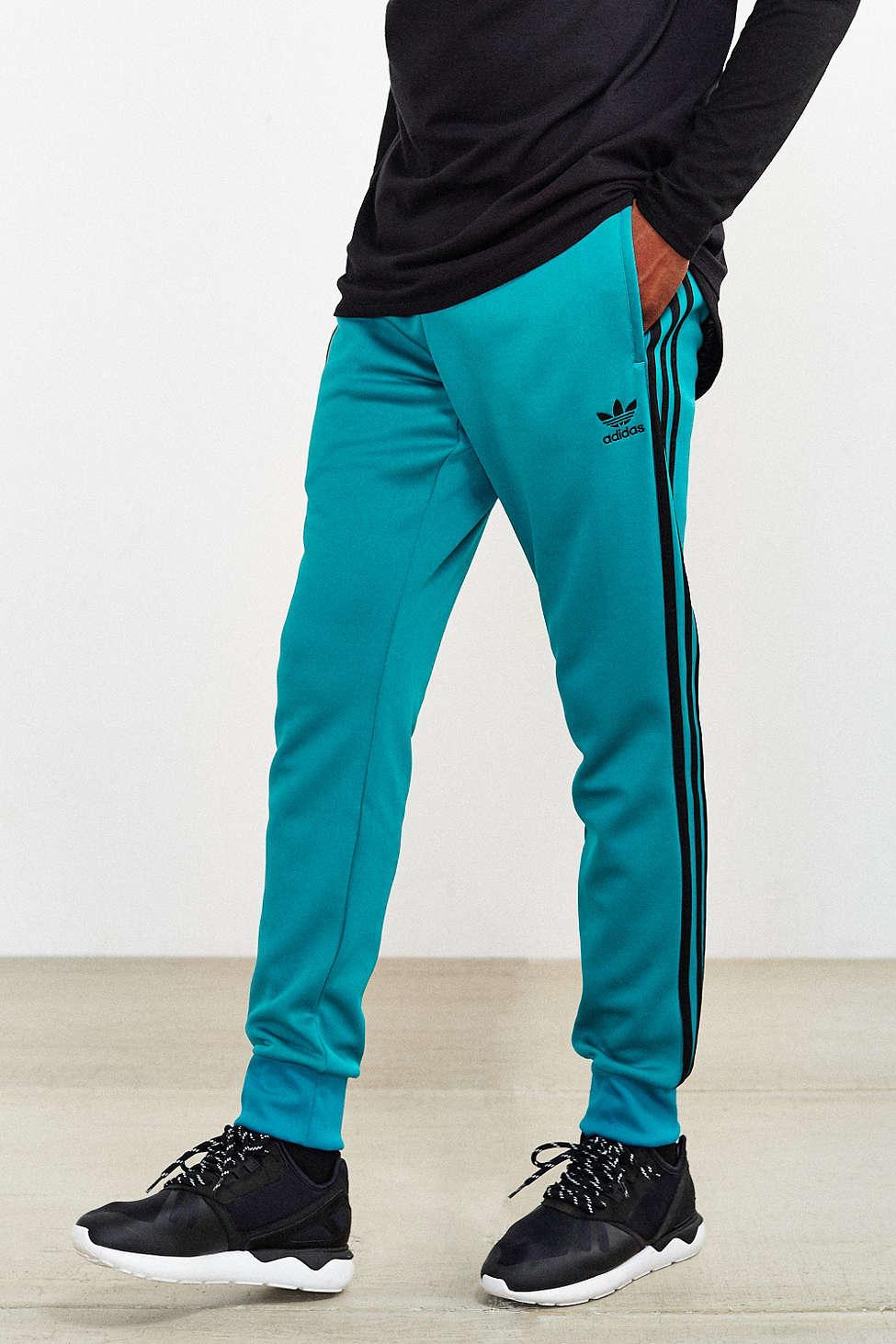 adidas Originals Track Pant Mens Superstar SST Tracksuit Bottoms Trefoil Slim Fit Pant New BQ7784, Burgundy, XS