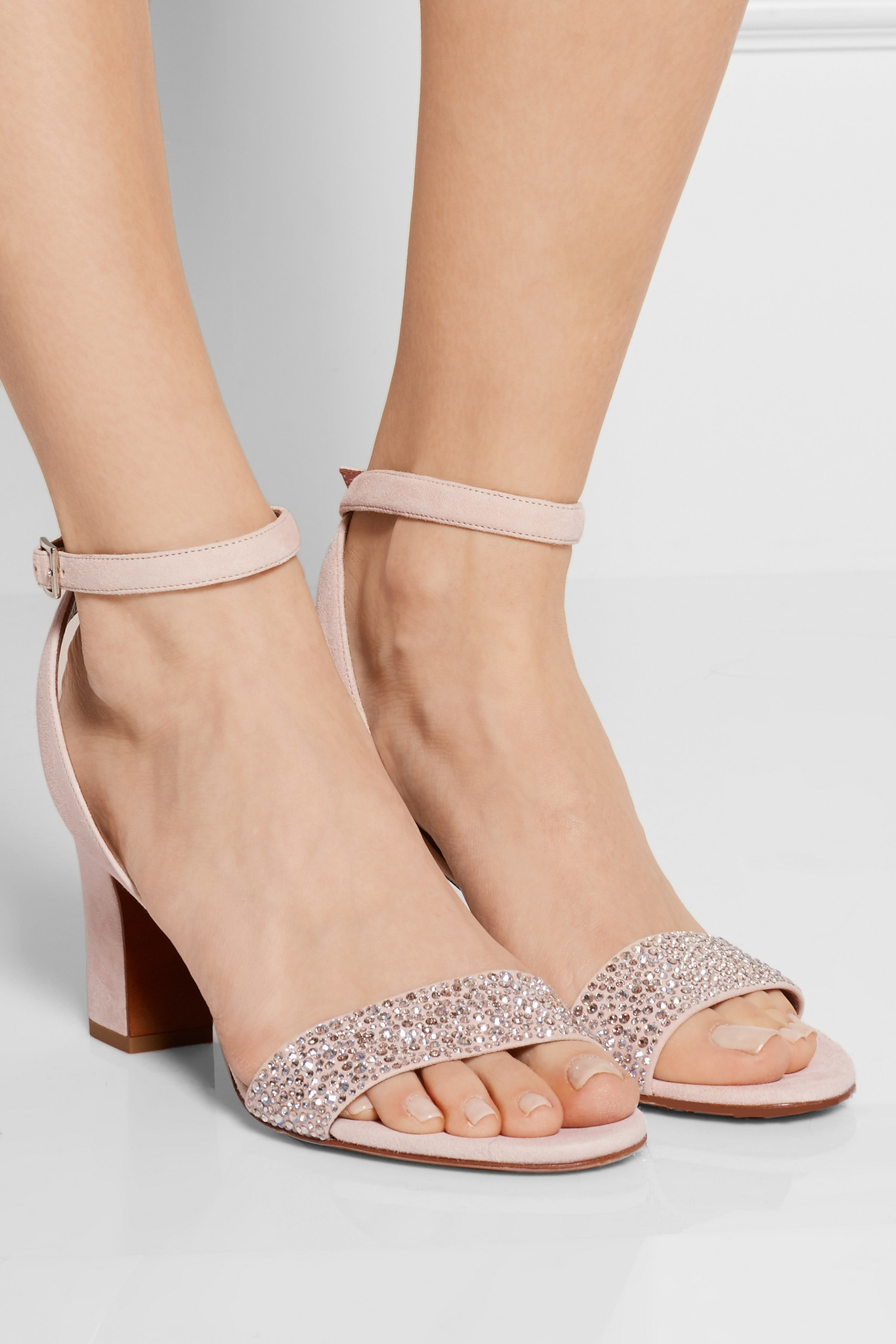 339544d78e1c Lyst - Tabitha Simmons Leticia Crystal-embellished Suede Sandals