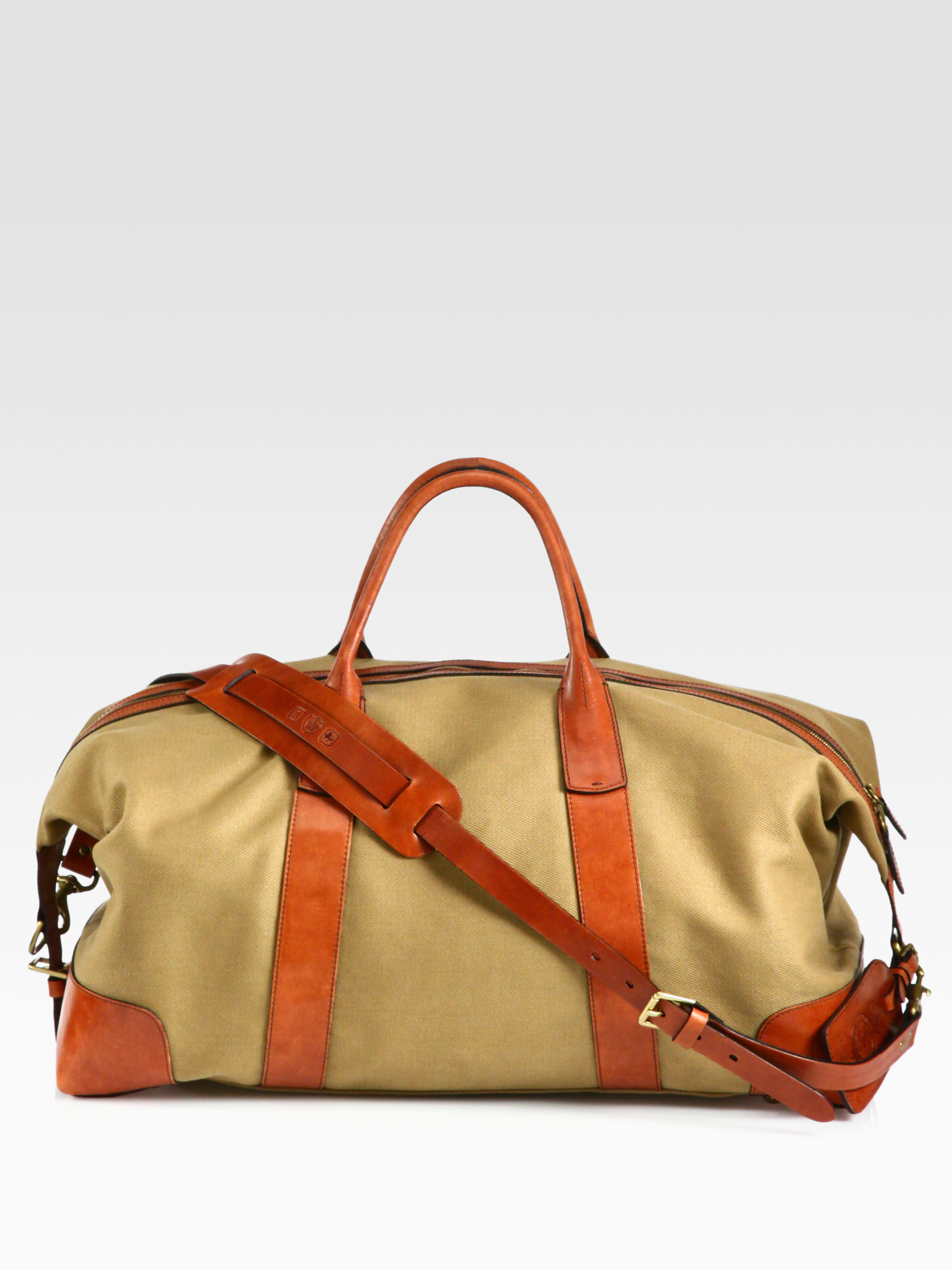 9336f8a604 ... uk lyst polo ralph lauren canvas duffel in natural for men 2c0dc ab37d