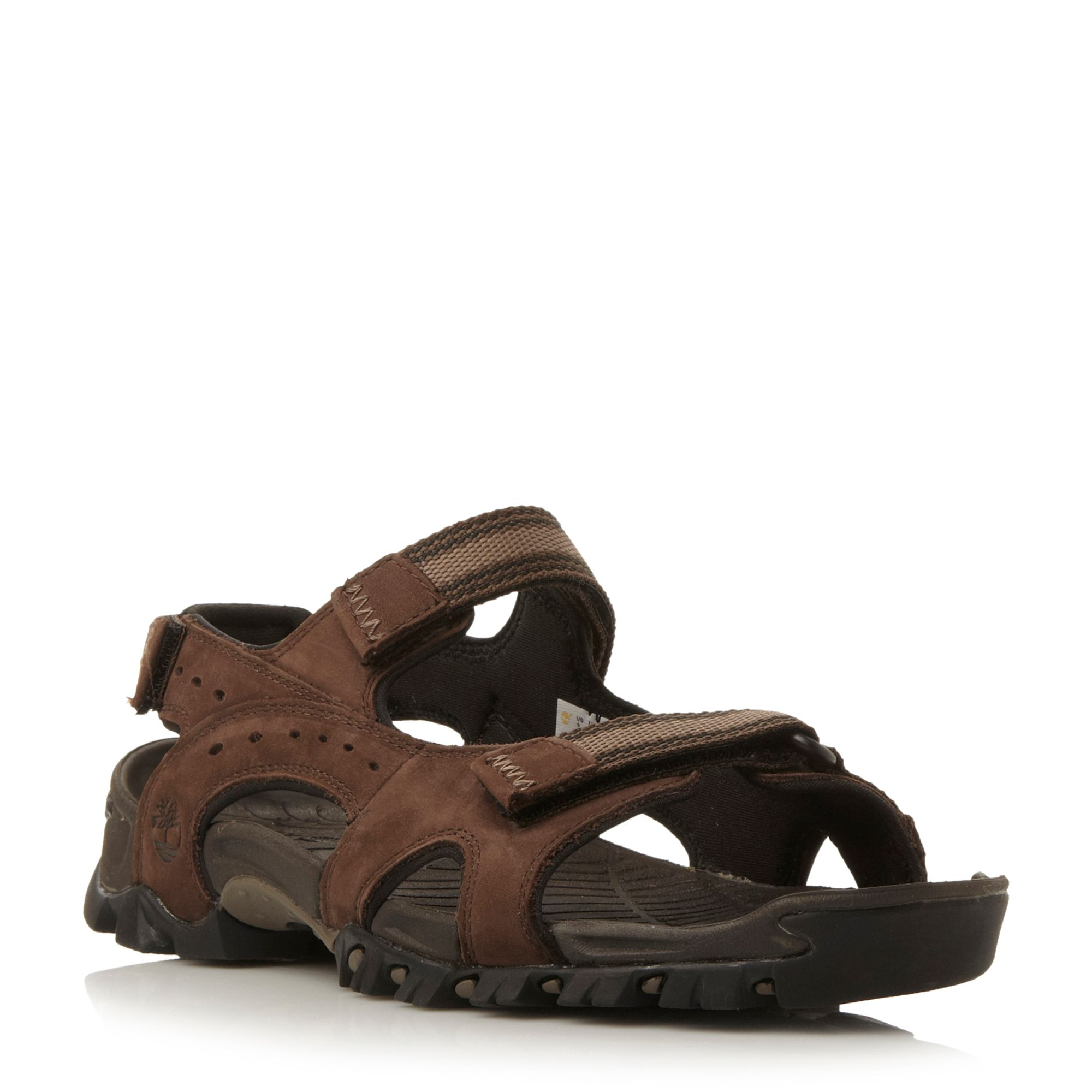 Timberland Velcro Strap Casual Sandals In Brown For Men Lyst