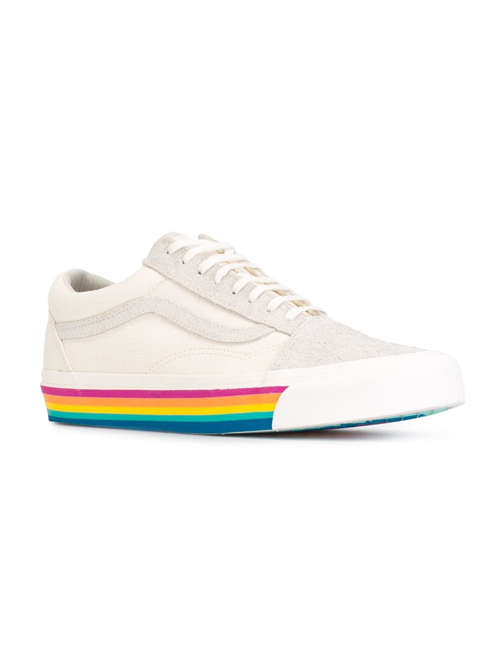34e82757f608a7 Vans Rainbow Sole Sneakers in Natural - Lyst