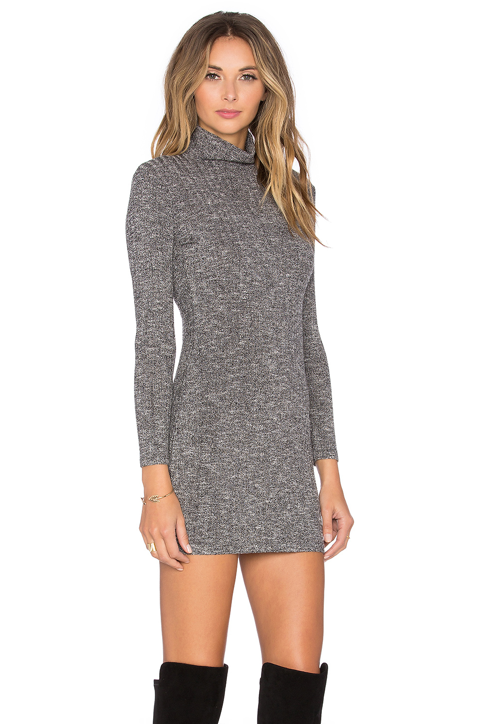 Capulet Long Sleeve Turtleneck Sweater Dress in Gray | Lyst