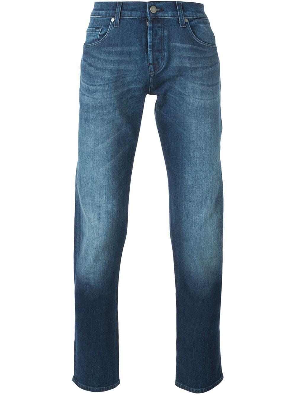 7 for all mankind slim fit jeans in blue for men lyst. Black Bedroom Furniture Sets. Home Design Ideas