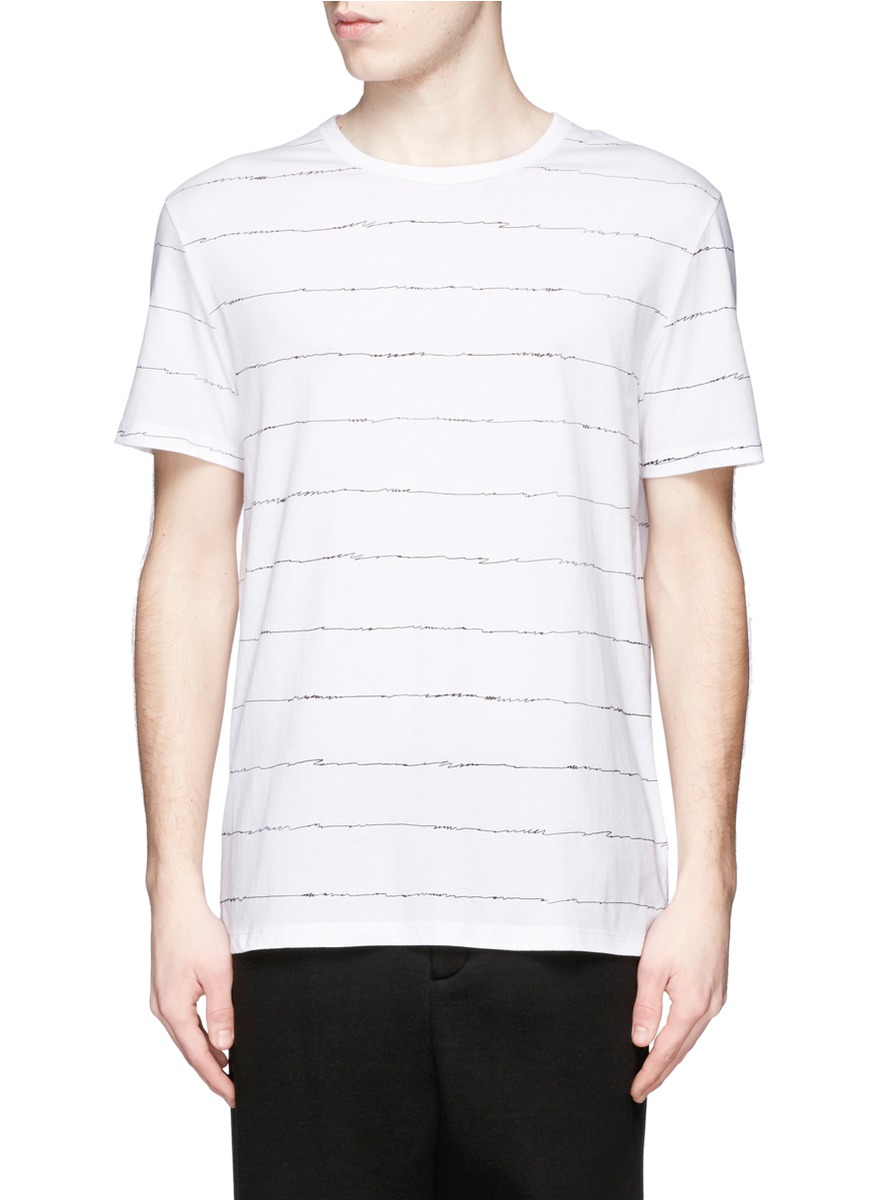 T by alexander wang scribble print t shirt in white for for T by alexander wang t shirt