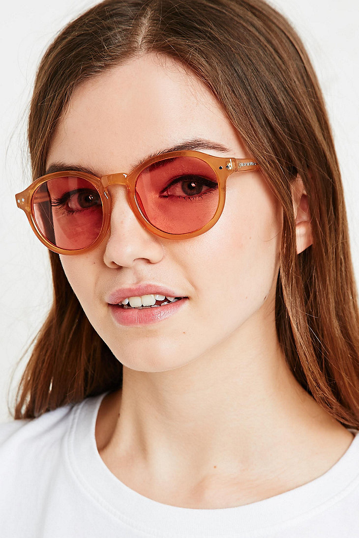 8b1ded611075 Cheap Monday Circle Sunglasses in Mustard in Yellow - Lyst