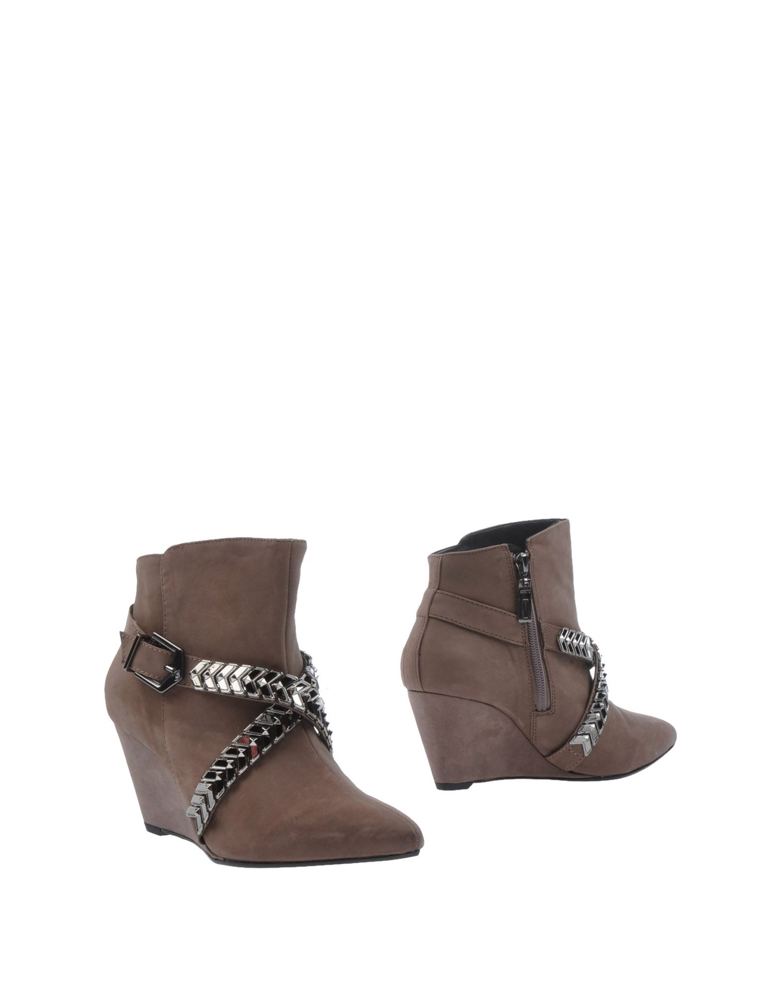 schutz ankle boots in gray lyst