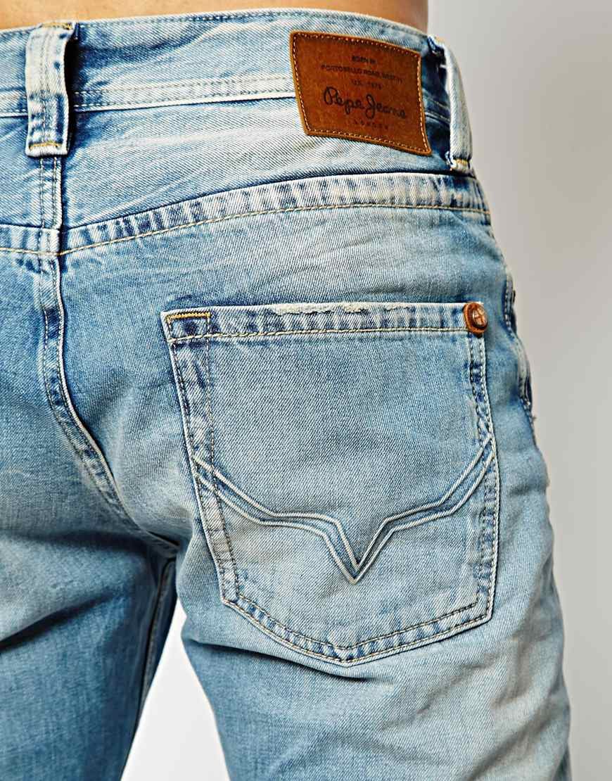 Lyst Pepe Jeans Cash Regular Tapered Fit Light Wash In