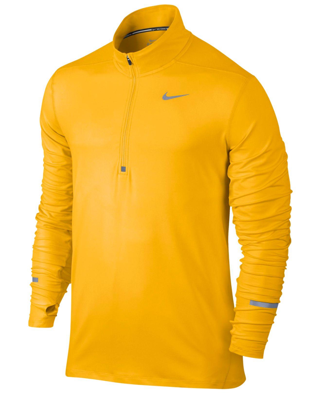Nike Men 39 S Element Dri Fit Half Zip Running Shirt In