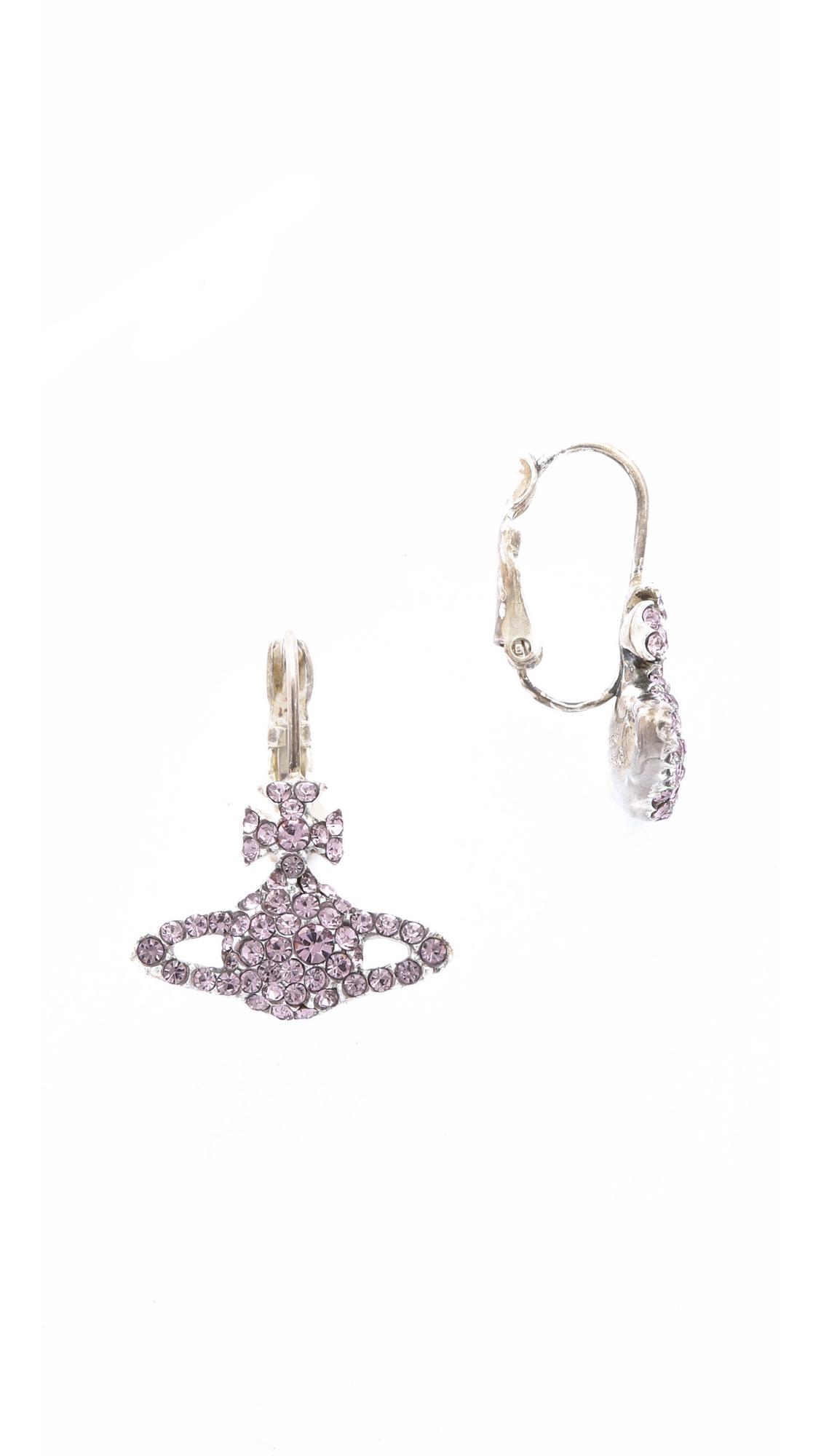 b392fa9bc Vivienne Westwood Grace Bas Relief Earrings - Light Amethyst in ...