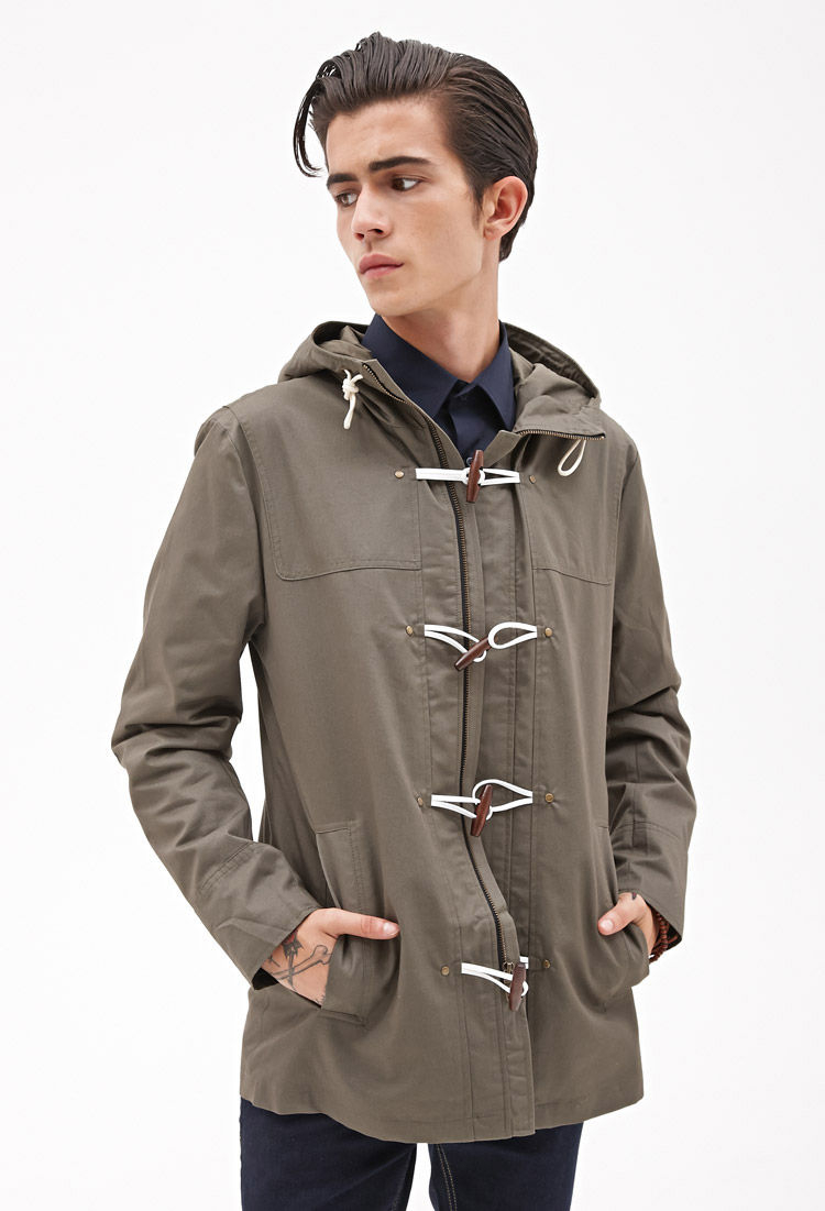 Top Lyst - Forever 21 Toggle Button Utility Jacket in Natural for Men ES88