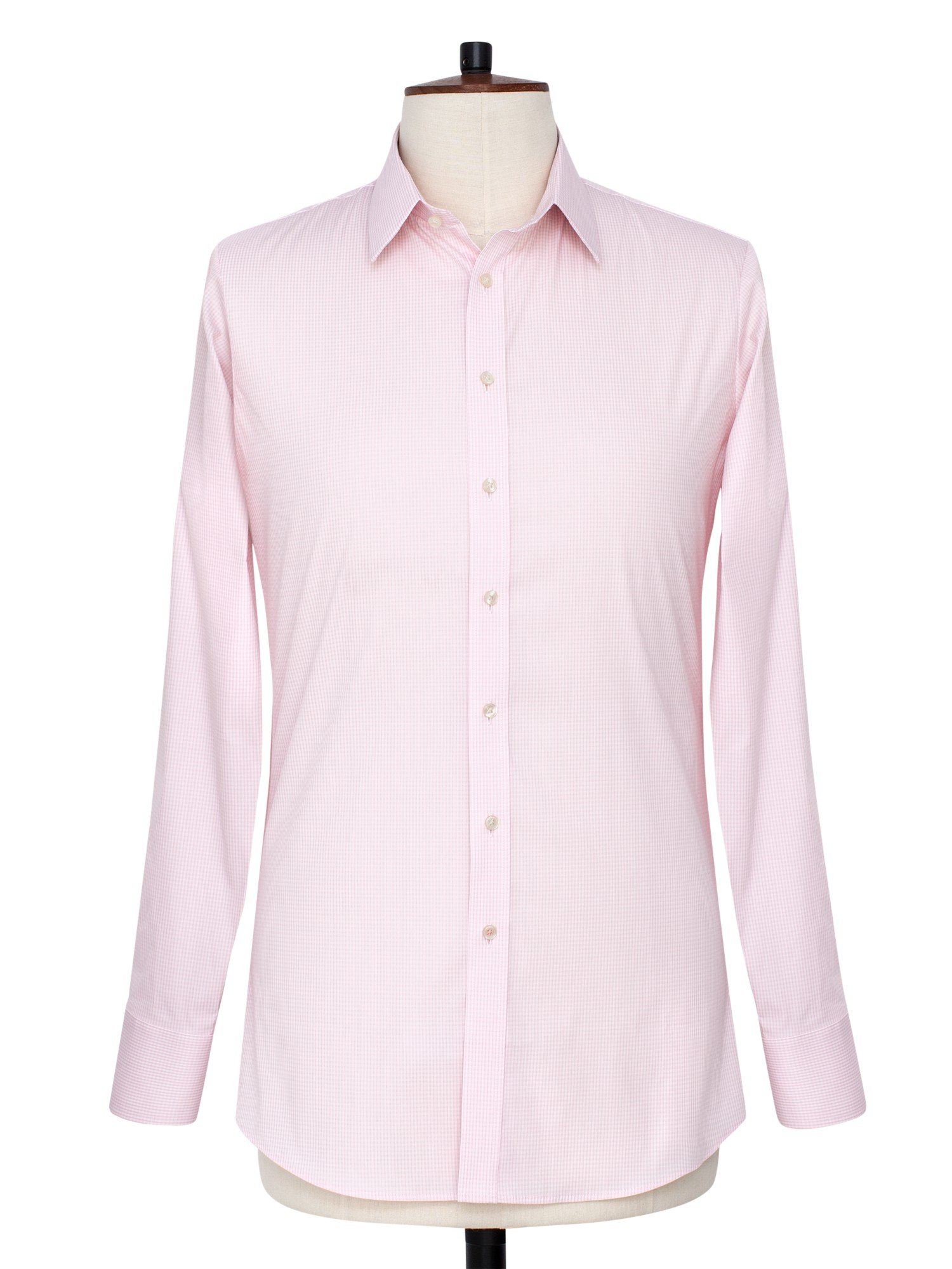 Thomas pink dyment texture super slim fit shirt in pink for Super slim dress shirts