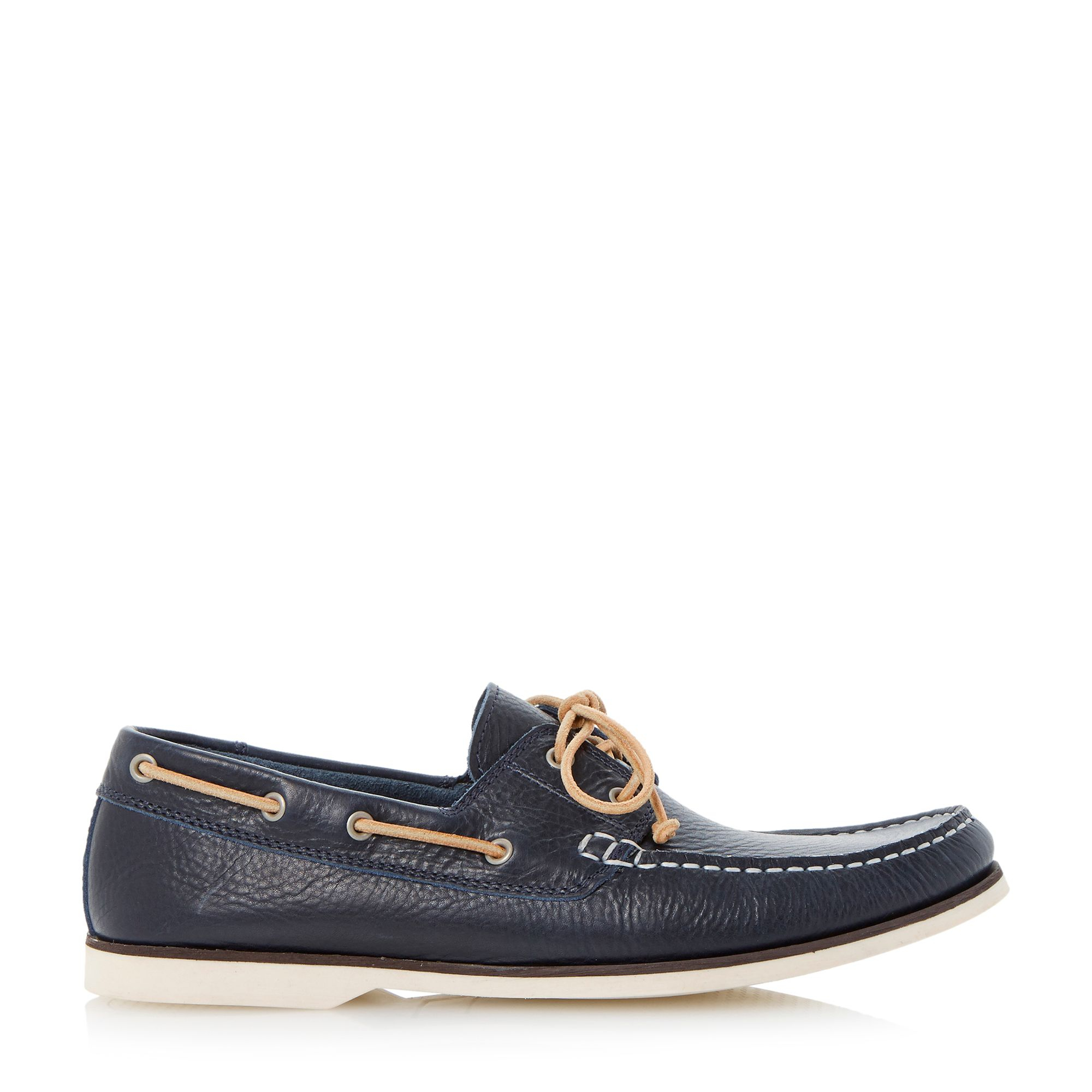 bertie battleship slip on casual boat shoes in black for