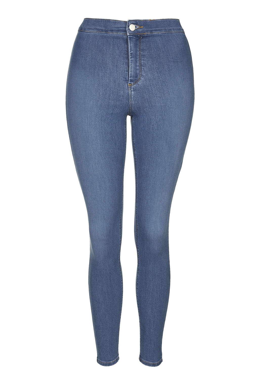 topshop petite blue joni jeans in blue mid stone lyst. Black Bedroom Furniture Sets. Home Design Ideas