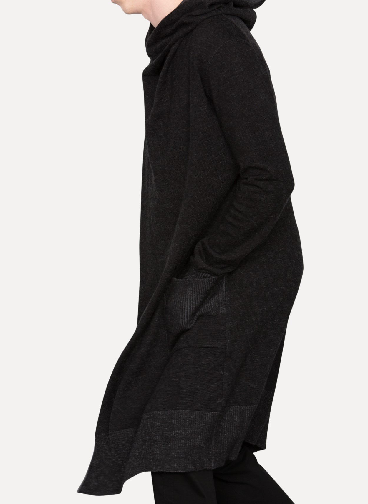 Daniel andresen Sula Long Hooded Cardigan in Black for Men | Lyst