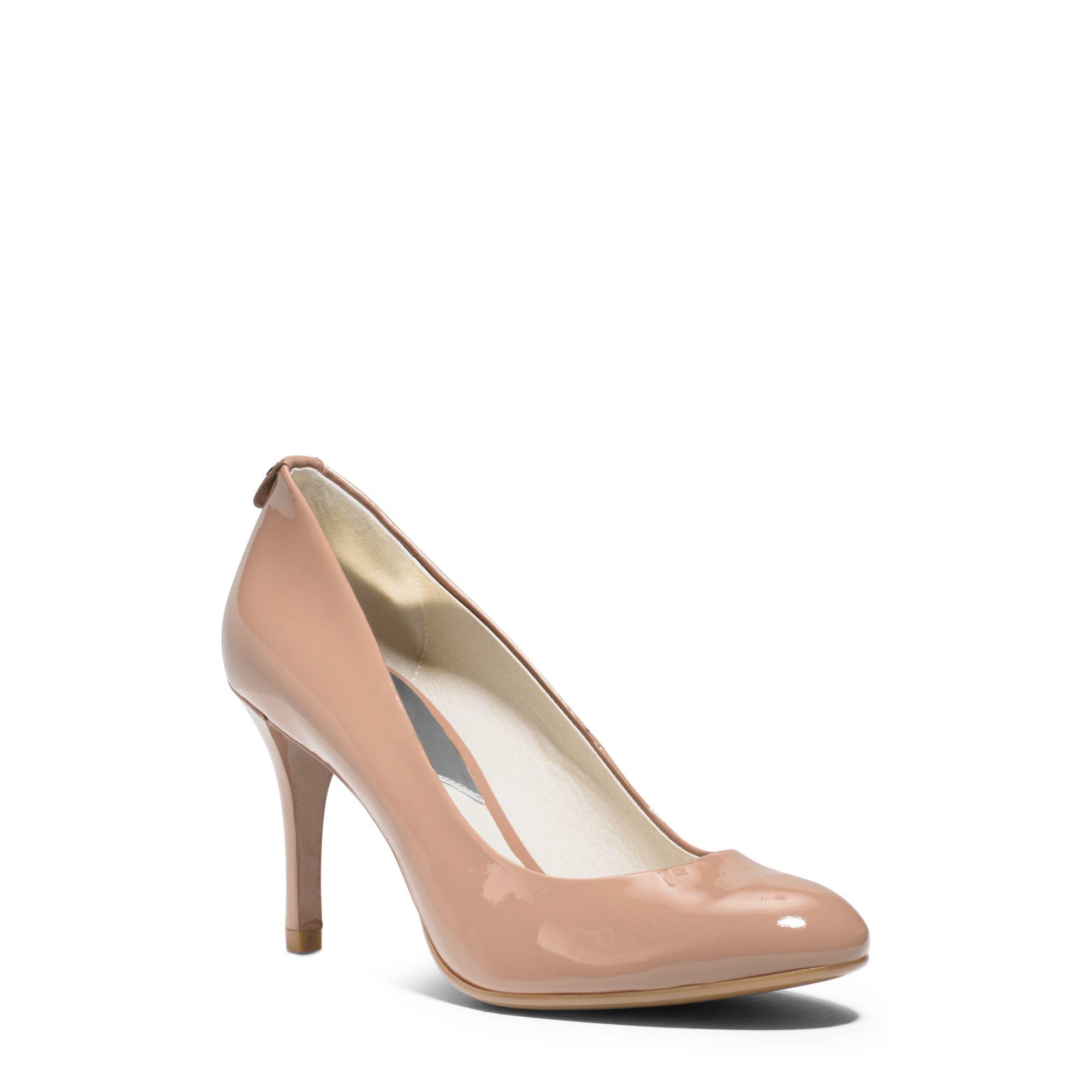 Lyst - Michael Kors Flex Patent-Leather Mid-Heel Pump In Pink-3386