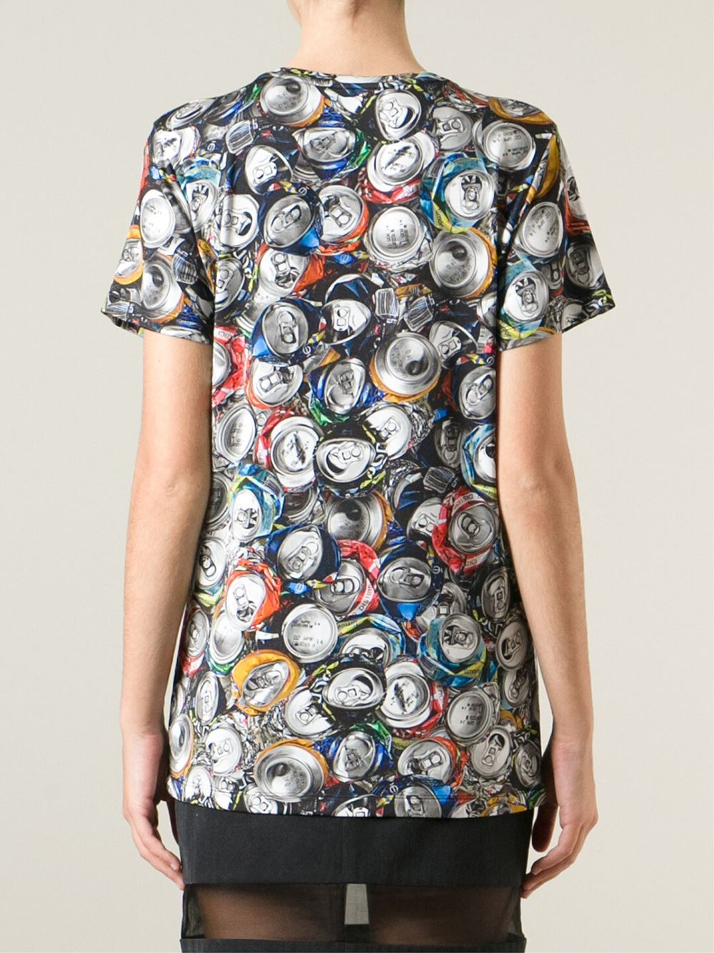 Moschino soda can print t shirt lyst for Where can i print t shirts