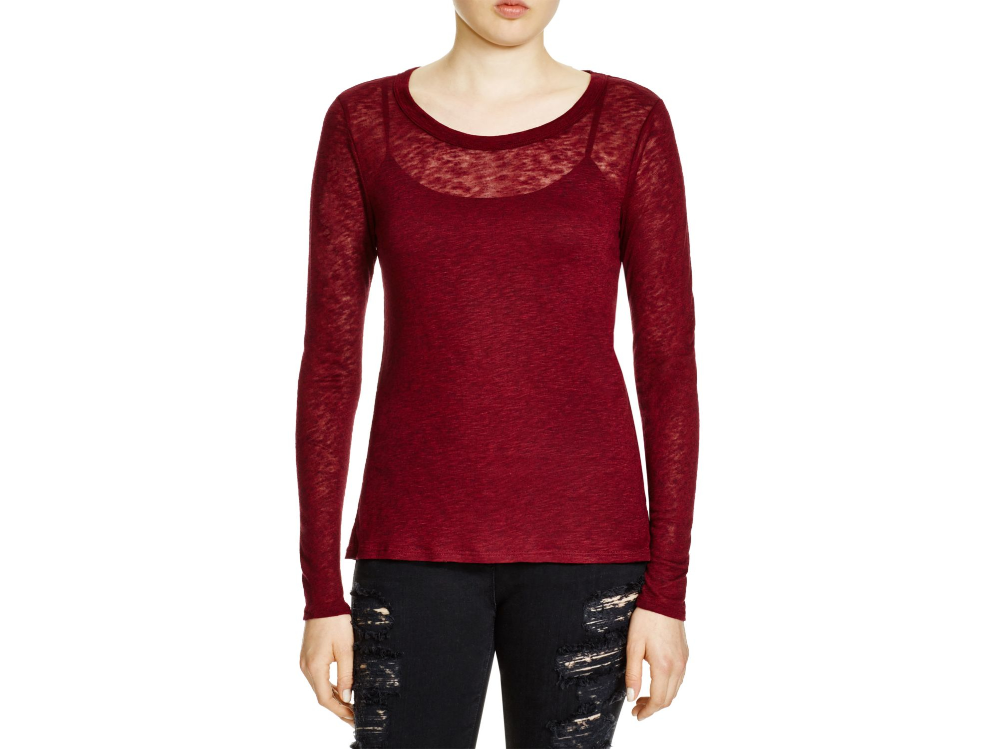 Lyst michael stars crew tee in red for Michael stars tee shirts