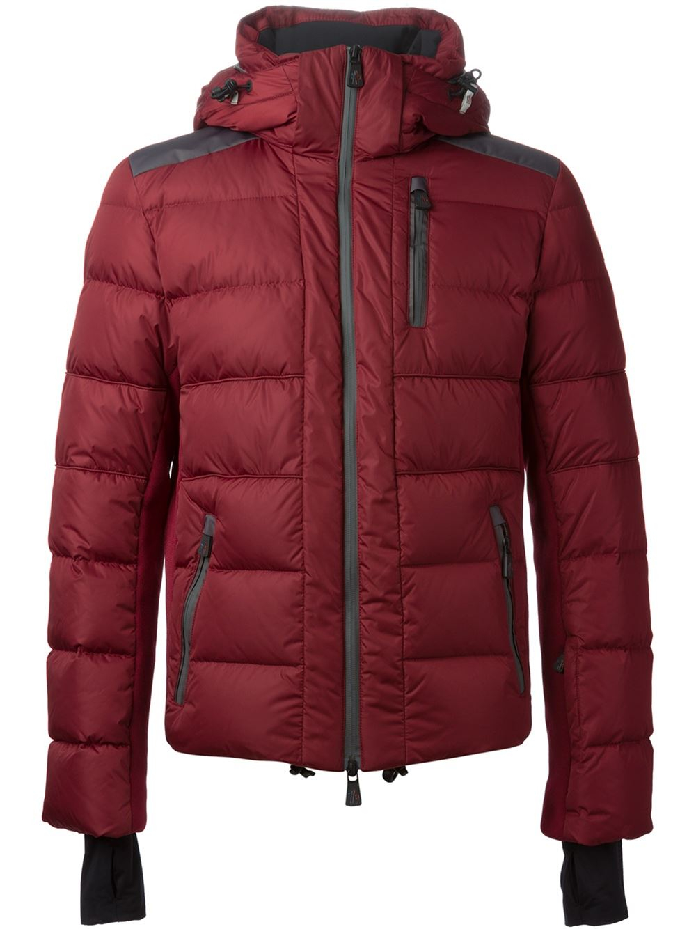 Lyst Moncler Grenoble Classic Padded Ski Jacket In Red