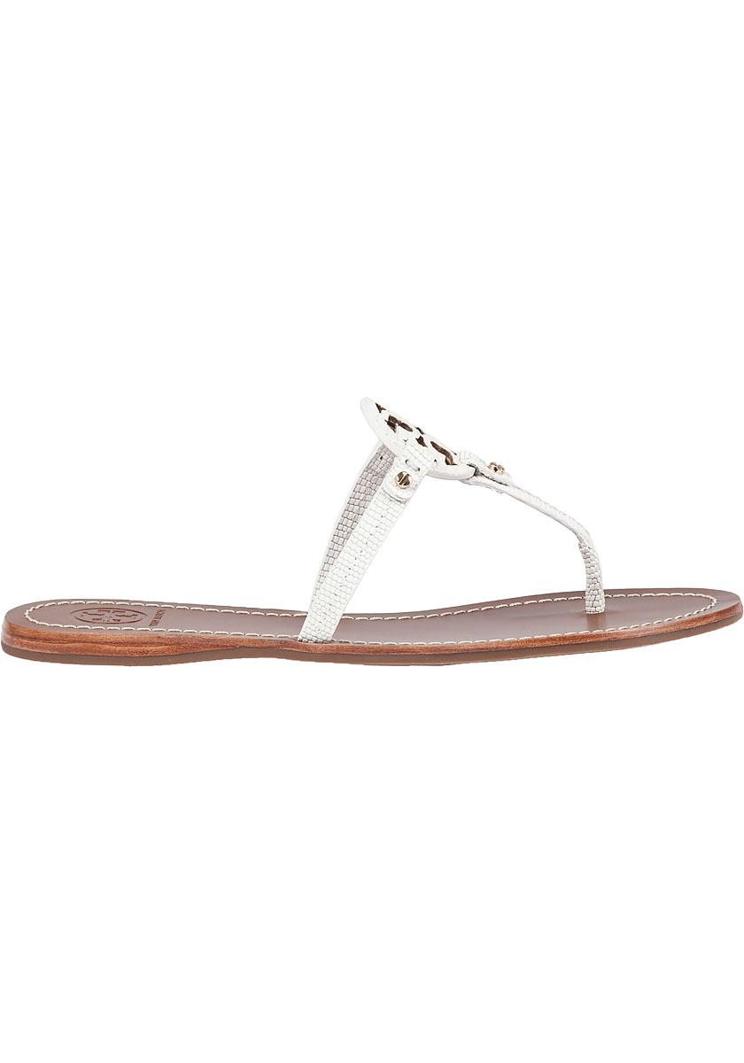 Tory Burch Mini Miller Flat Sandals In White Lyst