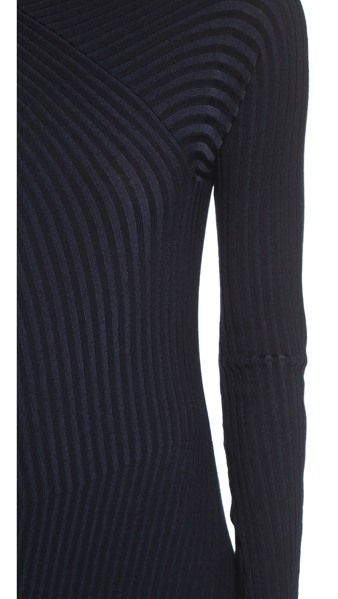 Acne studios Ayla Ribbed Sweater Maxi Dress - Dark Navy in Blue | Lyst