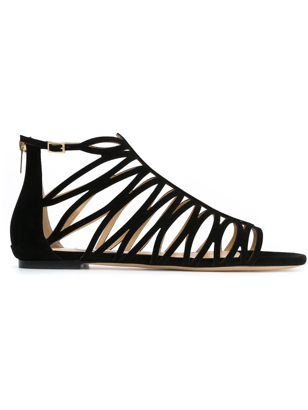 374c9b636d8 Lyst - Jimmy Choo  kerim  Sandals in Black