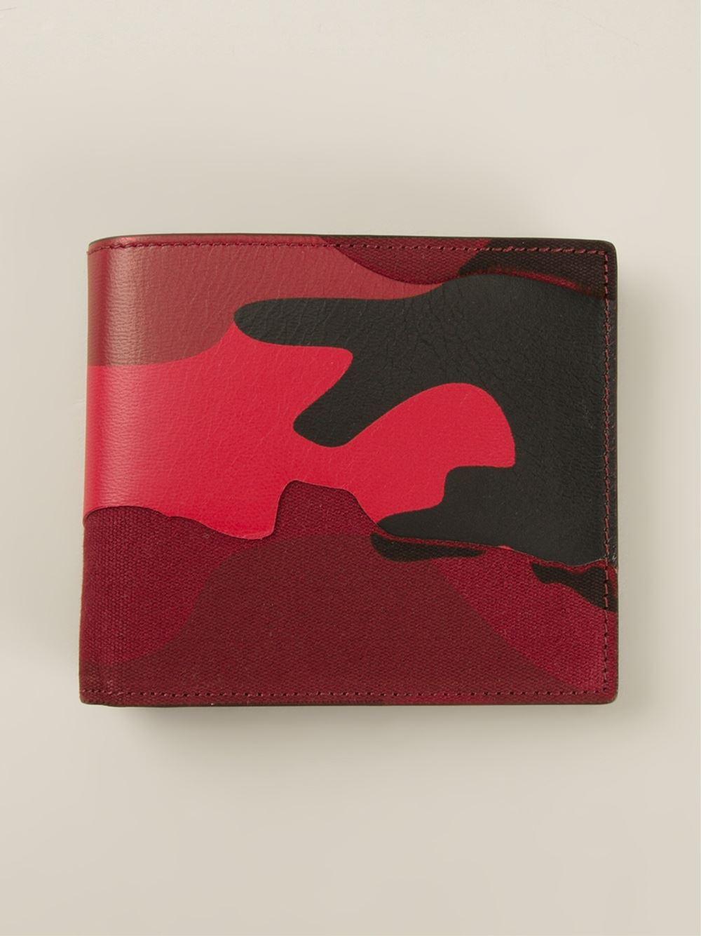 dcdda7f10c83 Valentino Black Camouflage Wallet for men