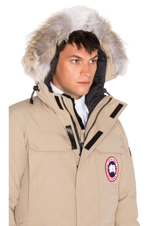 Canada Goose toronto replica shop - Canada goose Citadel Coyote Fur Trim Parka in Beige for Men (Tan ...