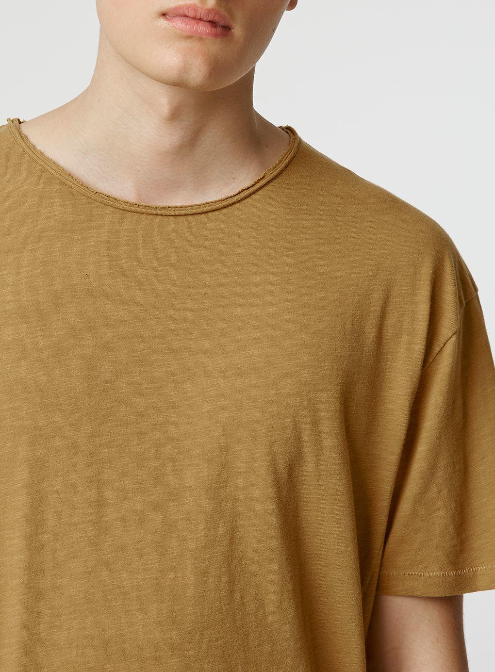 Lyst topman short sleeve slubby long line t shirt in for Long line short sleeve t shirt