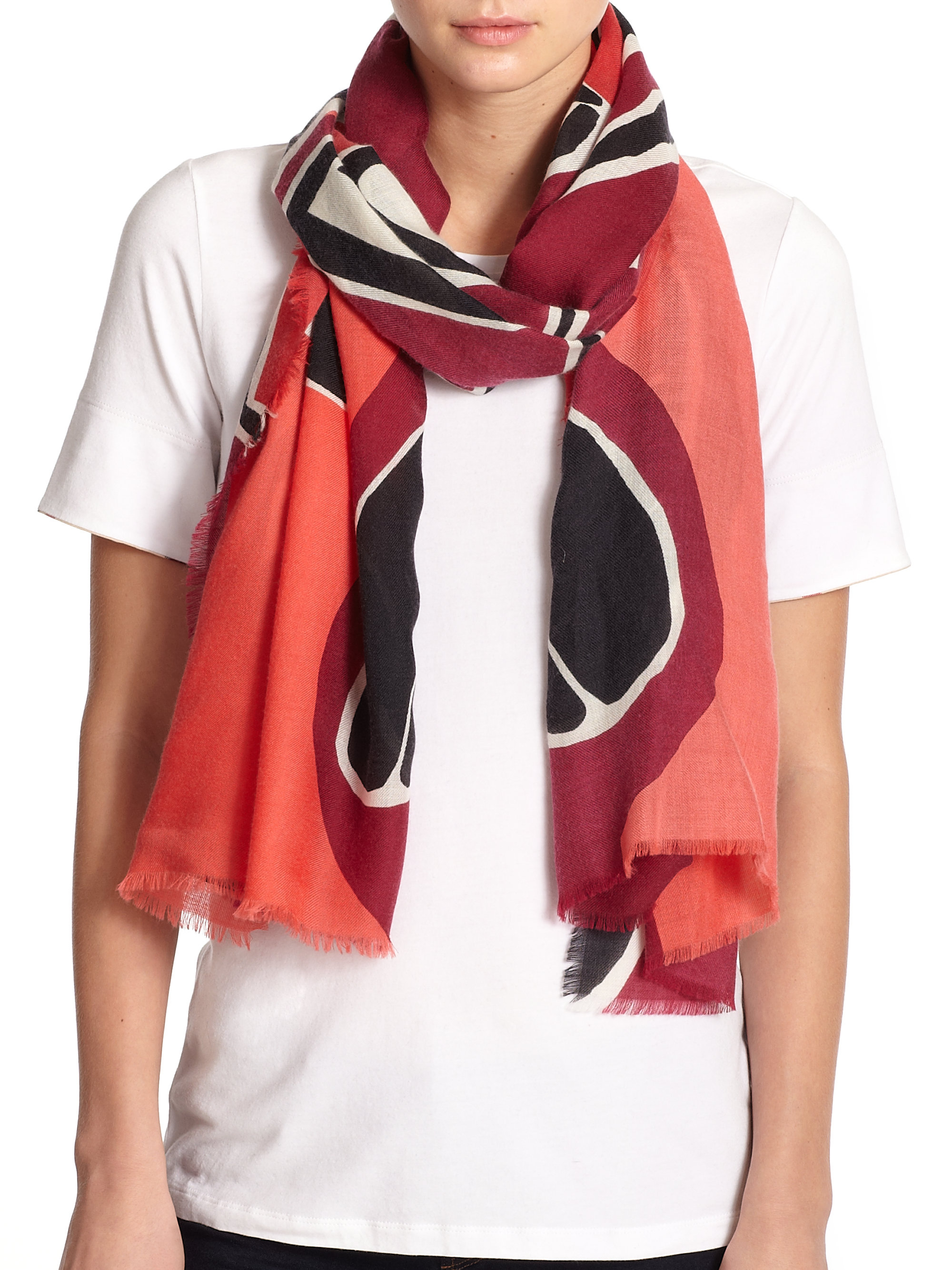 burberry prorsum insects of britain scarf in pink