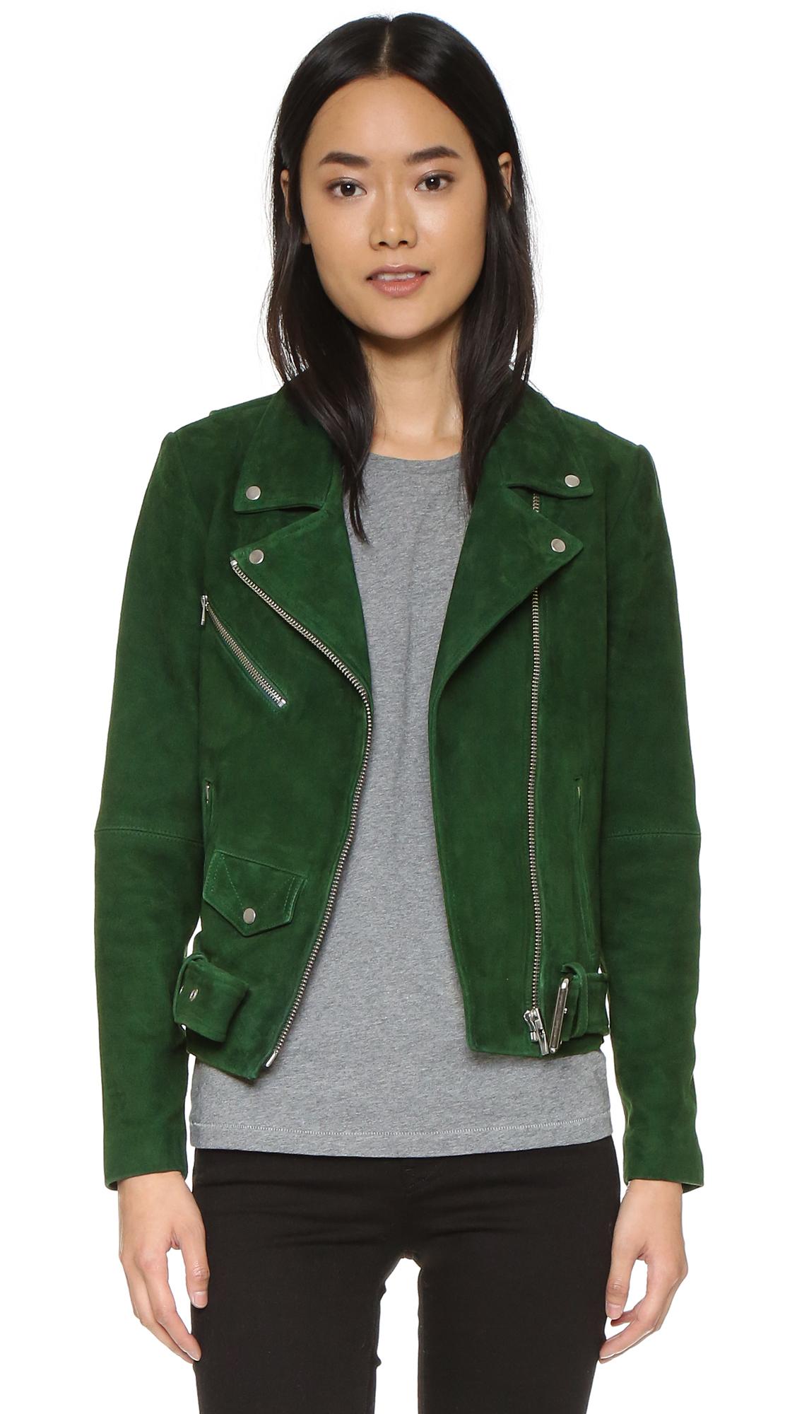 Lyst Veda Jayne Suede Jacket In Green