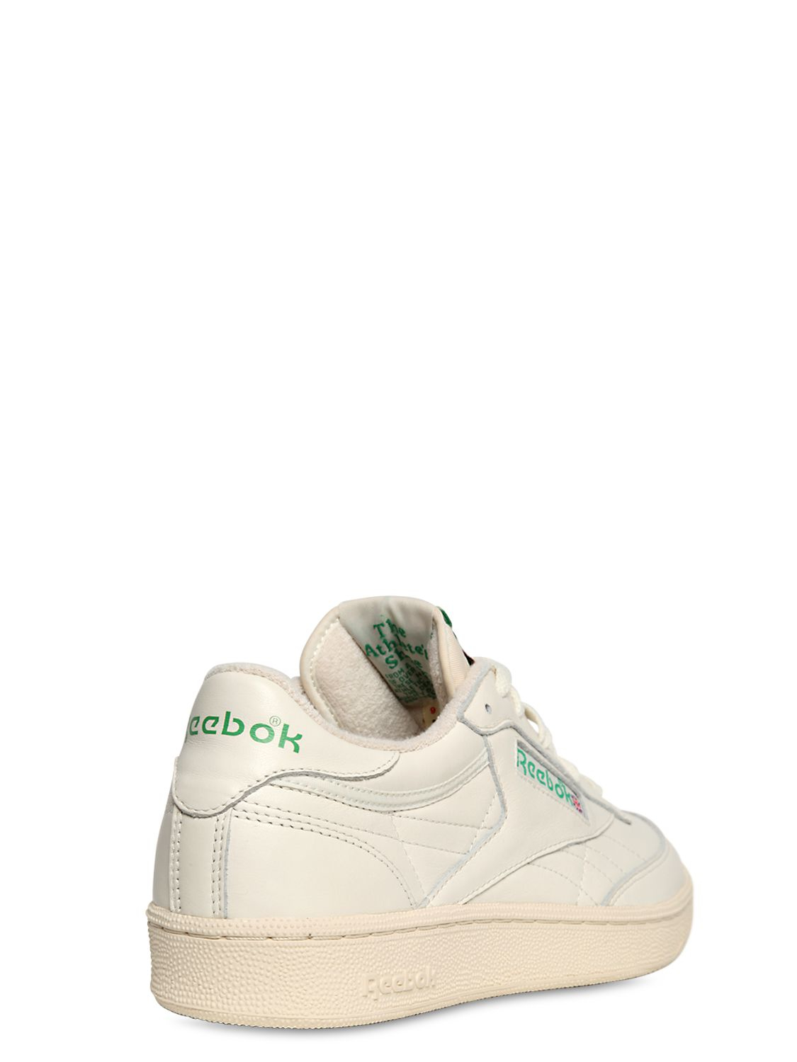 c24baaa10fe hot lyst reebok club c 85 vintage leather low top sneakers in white for men  7d294