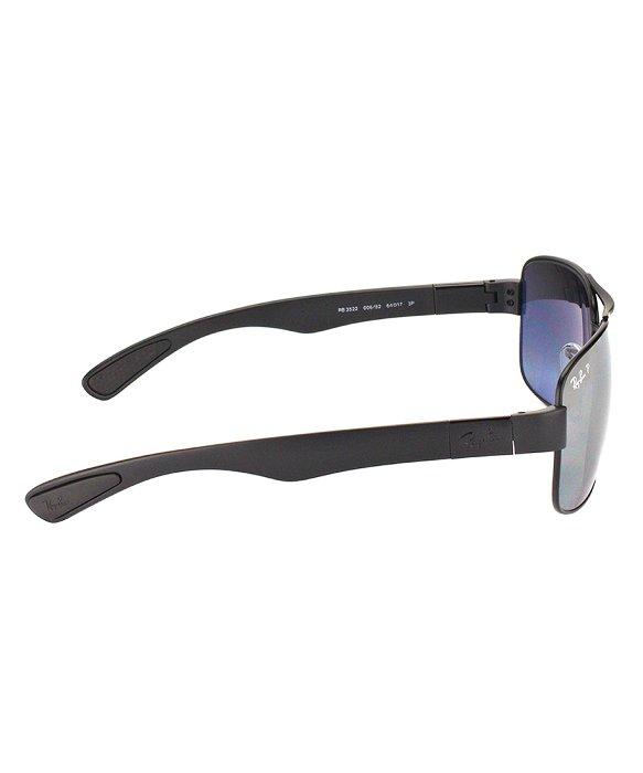 ab562fd5d3 Lyst - Ray-ban Rb 3522 006 82 Matte Black Aviator Metal Sunglasses ...
