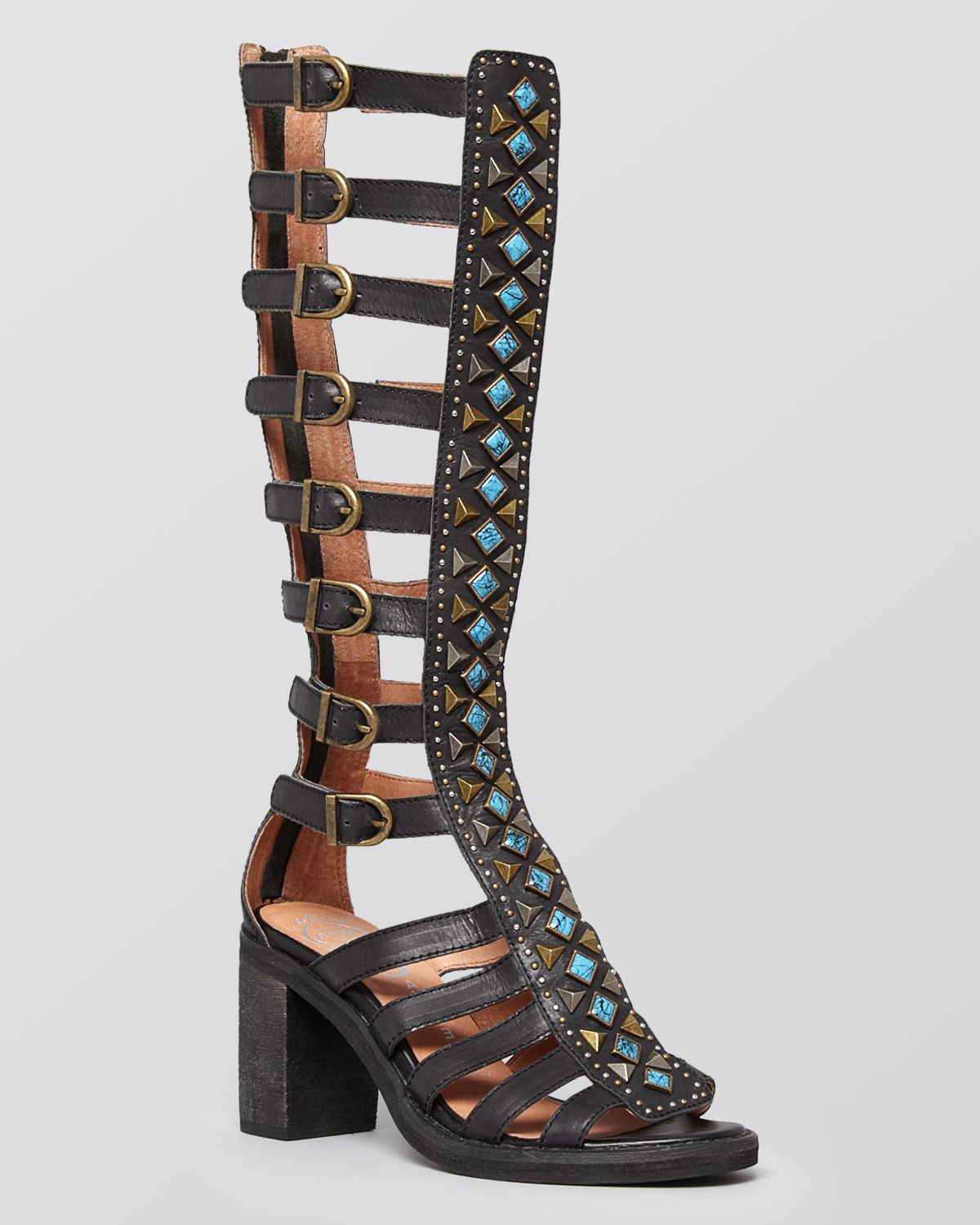 Jeffrey Campbell Tall Gladiator Sandals Sade In Black